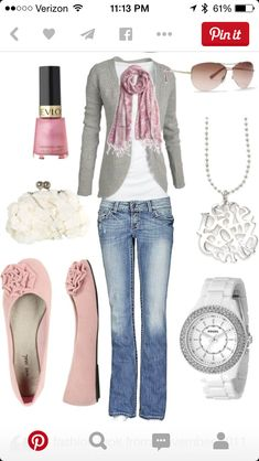 I like the gray/pink/white color combo. Really like the style of the sweater.