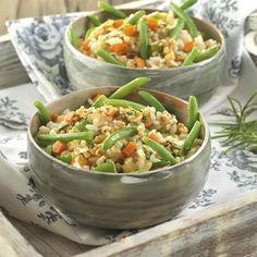 receta arroz integral verduras temporada