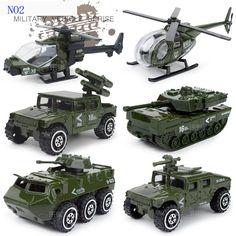 Juguetes del bebé del coche Diecast y vehículo del juguete 1 : 87 metal de la aleación 6 unidades modelo de coche de niño juguetes frie militar camión políticas de coches juguetes