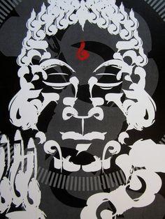Zen Brush Style Buddha Digital Art Print on Etsy, $20.00