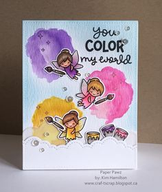 Paper Pawz: Lawn Fawn Fairy Friends Card