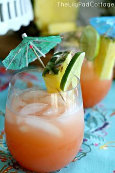 Rum Punch Recipe- this is a delicious summer treat that is SO easy to make! Plus it's great without the rum for a non-alcoholic punch, too!