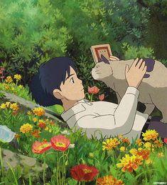 All Things Ghibli Manga Anime, Anime Gifs, Anime Art, Secret World Of Arrietty, The Secret World, Studio Ghibli Art, Studio Ghibli Movies, Hayao Miyazaki, Buch Design