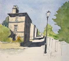 The online home of John Harrison, artist: purveyor of line drawings with watercolour Watercolor Journal, Pen And Watercolor, Watercolor Paintings, Watercolours, Landscape Sketch, Landscape Drawings, Watercolor Landscape, Landscapes, Sketchbook Drawings