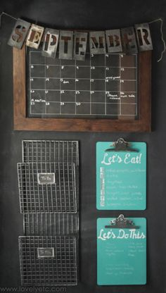 Drowning in piles of papers? Or tired of the constant questions about what's for dinner? This command center has all the things you really need to get your family organized once and for all.