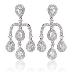 Cubic Zirconia Chandelier Earrings from Roman & Sunstone