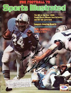 Earl Campbell Autographed Sports Illustrated Magazine Houston Oilers PSA/DNA #X65614