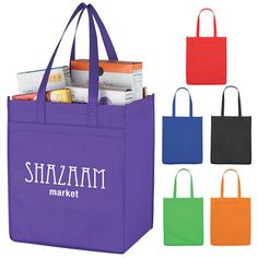 Promotional Non-Woven Market Shopper Tote Bag | Customized Non-Woven Market Shopper Tote Bag | Promotional Shopping Tote Bags