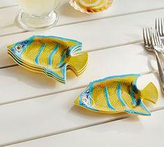 Angelfish Melamine Tidibt Plate, Set of 4 #potterybarn