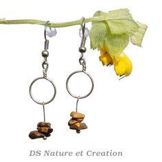Geometric jewelry tiger eye earrings by DSNatureetCreation on Etsy www.etsy.com/listing/232518329/geometric-jewelry-tiger-eye-earrings?ref=shop_home_active_14