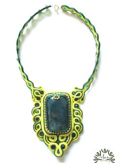 Green Agate by JewelriesbyMony on Etsy