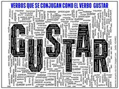 Me encanta escribir en español: Verbos que se conjugan como el verbo GUSTAR.