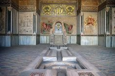 Interno del Castello della Zisa-Palermo.Edificato durante la dominazione normanna da maestranze arabe