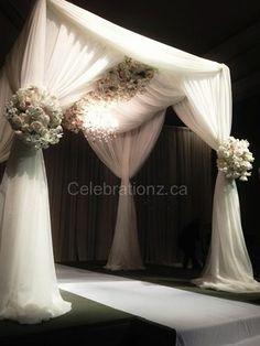 Gorgeous Chuppah from Celebrationz Inc in Toronto #jewish #wedding www.themodernjewishwedding.com