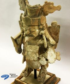 This Mayan ceramic figure may look like a decorative sculpture, but is actually a censer - and would hold burning incense. For the ancient Maya, the afterlife and supernatural beings were closely related to the sense of smell. Both the deceased and deities would find nourishment by consuming the aromas of burning incense. #ScienceVault