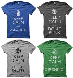 I would love to have a t shirt that just said ALLONS-Y kind of like the top left