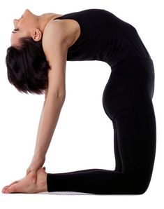 Camel Pose - Ustrasana is a great yoga pose for flexibility in the back