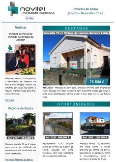 Newsletter nº 20 do dia 19 de Janeiro - Imóveis de Leiria  #newsletter #imoveis #properties #realestate #leiria #janeiro #novilei #imobiliaria