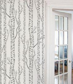 STENCIL for Walls - Silver Birches - Allover tree stencil. $57.95, via Etsy.