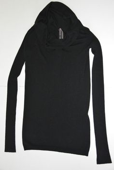 Rick Owens Mountain A/W 12 Black Long Sleeved Jumper Top Size L