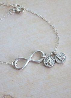 Infinity Personalized Initial Bracelet