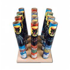 black cat fireworks | No. 200 12 Shot Angle Rack