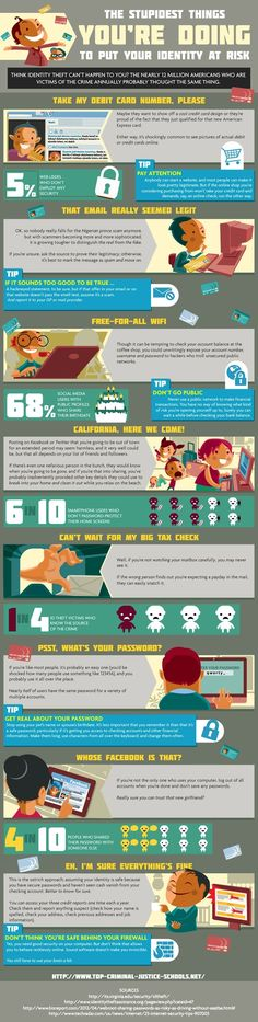 The Stupidest Things You Can Do Online to Put Your Identity at Risk (Infographic)