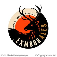 Exmoor Ales logo by Chris Mitchell
