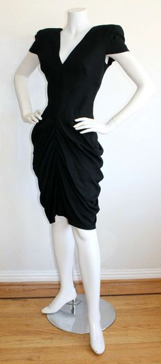 """Early Alexander McQueen Black Dress from """"His"""" Last Collection"""