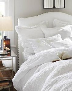 PB, love the all white layered/textured bed!