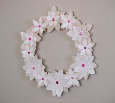 Mothersday spring wedding wreath vellum paper flowers 12 inch wedding wreath paper flowers vellum 12 inch by bubblegumdish mightylinksfo