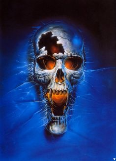 Vampire skull. By Bob Eggleton.
