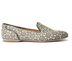 Women's Cosette (White Multi) Fabric Slip On | H Shoes