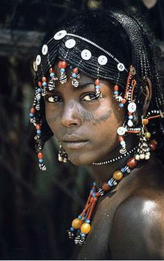 Africa | Young Afar woman, Ethiopia. | ©unknown.
