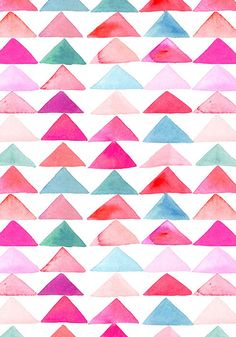 I like this example because it is a Watercolor pattern of triangles which is very light