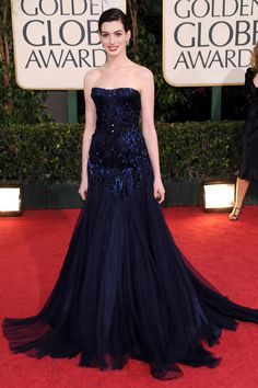 Anne Hathaway - 60 Best Golden Globes Dresses of All Time - Best Golden Globes Dresses of All Time - Golden Globes Dresses - Golden Globes Best Dressed - Golden Globes Marie Claire - Marie Claire UK