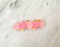 Tres fieltro corona de flores corona de por BlushingBowsHandmade