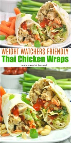 These Weight Watchers Thai Chicken Wraps are just four points each! Easy to make… These Weight Watchers Thai Chicken Wraps are just four points each! Easy to make and assemble. This Weight Watchers recipe. Weight Watchers Pasta, Weight Watcher Desserts, Weight Watchers Snacks, Weight Watcher Wraps, Weight Watcher Dinners, Weight Watchers Chili, Weight Loss, Losing Weight, Thai Chicken Wraps