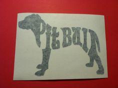 Pit bull pitbull 65x 5 tall vinyl decal car laptop by Teeznstyle, $1.99