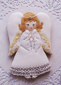 Купить Пряник расписной Ангел - пряники расписные, имбирные пряники, имбирное печенье, ангел, ангелок