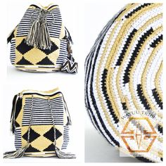 Visit www.Wayuutribe.com to see more Mochilas and boho bags styles. These bags are known as the Susu bag to the Wayuu people. The average bag takes 10-20 days to hand weave. All bags are Handmade. Wayuu people are use bight different colors and patterns to tell the story of the weaver. These are all one-of-kind bags. Wayuu tribe bags are $148.00. They are woven with cotton thread. A nice beach bag or farmer bag that is very sturdy. #boho #HANDMADE #mochila @Thefashionguitar