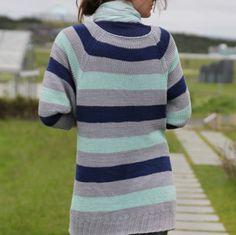 norwegian pattern - knitted garden coat / sweater