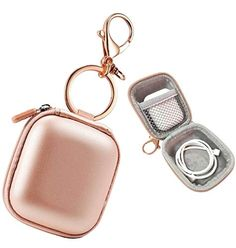 Airpods Case Keychain, AirPod Charging Protective Case, Earbud Case, PU Leather Hard case, Portable Carrying Case with Metal Clasp and Keychain Compatible with Apple AirPods Bluetooth Earphone – Best Accessories Iphone Accessories, Travel Accessories, Apple Watch Accessories, Accessoires Iphone, Earphone Case, Accesorios Casual, Organizer, Protective Cases, Pu Leather