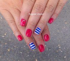 Gelish-All Dahlia-ed up # sailor nails