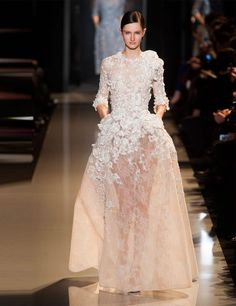 Elie Saab Couture SS13. For more wedding dress inspiration see: http://www.elleuk.com/style/occasions/couture-wedding-dresses