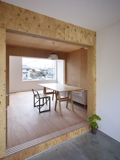 Image 3 of 23 from gallery of Belly House / Tomohiro Hata Architect and Associates. Photograph by Toshiyuki Yano Modern Japanese Architecture, Interior Architecture, Plywood Interior, Interior Styling, Interior Design, Natural Interior, Minimalism, Sweet Home, Furniture