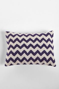 Crewel Embroidered Zigzag Pillow  $39.00. I need this for my guest room!