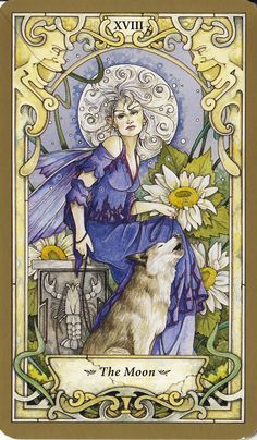 The Moon from Mystic Faerie Tarot