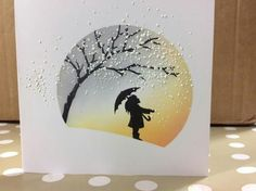Let it snow sunset Cas Christmas Cards, Stamped Christmas Cards, Handmade Christmas, Kirigami, Cardio Cards, Fries, Handmade Birthday Cards, Winter Cards, Card Sketches