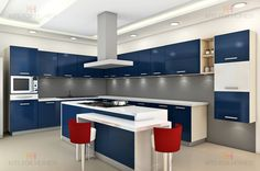 Customized Home Furniture & Modular Kitchen Solutions Online Kitchen Backsplash Photos, Kitchen Wall Units, Kitchen Photos, Kitchen Layout, Kitchen Design, Modular Kitchen Indian, Kitchen Modular, Grey Kitchens, Luxury Kitchens